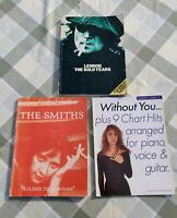 Music books job lot inc The Smiths. Lennon Solo Years. Without you chart hits.