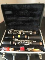 Selmer Signet 100 Wood Clarinet Nice Condition 2 Mouth Pieces Accessories #26