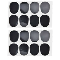 16pcs Alto/tenor Sax Clarinet Mouthpiece Patches Pads Cushions, 0.8mm Blac by-TM