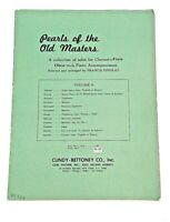 Pearls of the Old Masters/ Solos for Clarinet-Flute-Oboe w/ Piano Accompaniment