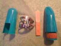 Student Mouthpiece for Bb Clarinet-NEW-Tip Opening #3-Turquoise-w/Lig and Cap!