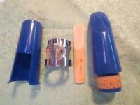 Student Mouthpiece for Bb Clarinet-NEW-Tip Opening #3-Dark Blue-w/Lig and Cap!