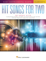 Easy Instrumental Duets-HIT SONGS FOR TWO-CLARINETS-MUSIC BOOK-BRAND NEW ON SALE