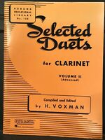 Rubank Selected Duets for Clarinet Volume II (Advanced) - Brand New