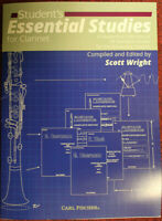 STUDENT'S ESSENTIAL STUDIES for CLARINET  by SCOTT WRIGHT
