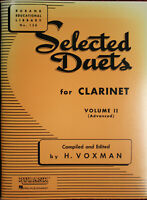 SELECTED DUETS for CLARINET vol 2 (Advanced) by H. Voxman NEW! FREE SHIPPING!