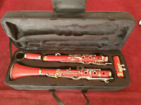 Red Clarinet G Key With Cases Parts bakelite Nickel plating Suitable for student