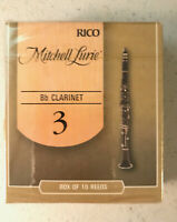 NEW Box of 10 Mitchell Lurie - Bb Clarinet Reeds - 3 Strength