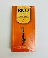 Rico Bass Clarinet Reeds Strength 3 Box Of 25