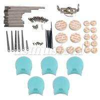 Clarinet Repairing Kit Reed Key Shaft Type A with 5 Blue Thumb Rest Pad