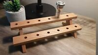 Wooden Stand Holder for 12 Trumpet or Trombone mouthpieces.