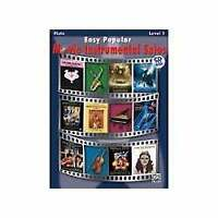 Alfred Easy Popular Movie Instrumental Solos for Flute (Book and CD)