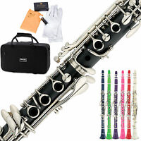 Mendini by Cecilio B Flat Clarinet in Black, Blue, Green, Pink, Red, or White