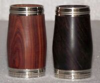 2 pieces Bb clarinet wood barrel  Ebony and Rosewood 55mm Buffet size