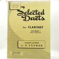 Rubank Selected Duets CLARINET VOLUME 1 Music Book Excellent Condition!