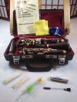 Jupiter Clarinet JCL-631 with Paper Work, Cleaning Supplies, Mouthpiece And Reed
