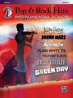 Today's Pop and Rock Hits Instrumental Solos : Clarinet, Book and CD