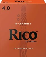 Rico by D'Addario Bb Clarinet Reeds Strength 4 10-pack