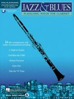Jazz and Blues Play-Along Solos Clarinet Book and Audio NEW 000841439