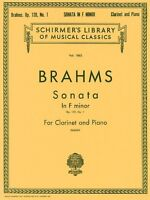 Brahms Sonata in F Minor Op. 120 No. 1 Score and Parts Sheet Music 050262350
