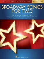 Broadway Songs for Two Clarinets Easy Instrumental Duets Book NEW 000252494