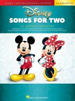 Disney Songs for Two Clarinets Easy Instrumental Duets Book NEW 000284644