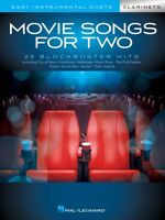 Movie Songs for Two Clarinets Easy Instrumental Duets Book NEW 000284652