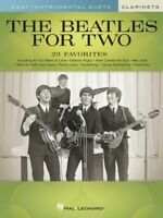 The Beatles for Two Clarinets Easy Instrumental Duets Book NEW 000291025