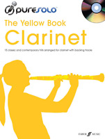 PURE SOLO THE YELLOW BOOK Clarinet Sheet Music Book & CD Pop Rock Chart Songbook