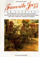 Favorite Jazz Songbook For Clarinet Solos / Duets / Trios Sheet Music Book