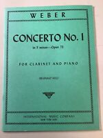 Weber Clarinet And Piano Concerto No. 1 in F minor Op. 73 Sheet Music #74-79