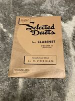 Selected Duets for Clarinet Vol II advanced Voxman  (Rubank )