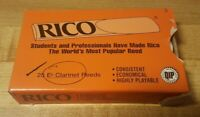 Vintage Rico Eb Clarinet Reeds 20 of 25 Left Style V Strength 3 - NOS Open Box