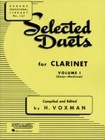 Selected Duets for Clarinet Volume 1 - Easy to Medium Ensemble NEW 004470940