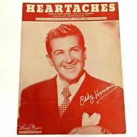 c 1931 Heartaches Sheet Music Eddy Howard w Solo for Trumpet Saxophone Clarinet