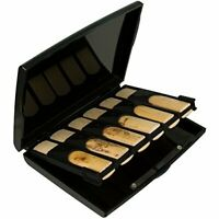 Protec Bb Clarinet Reed Case for 12 Reeds (Opaque Black), Model A250 (Black)