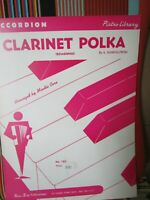 CLARINET POLKA BY MINDIE CERE ACCORDION SOLO SHEET MUSIC NOS