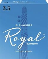 RICO ROYAL CLARINET REED, #3.5 (10 REEDS) FRENCH FILED FOR F