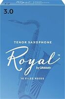 RICO ROYAL TENOR SAX REED , #3 (10 REEDS) FRENCH FILED FOR F