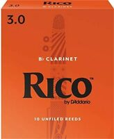 RICO Bb CLARINET, #3 (10 REEDS) EASY TO PLAY, AFFORDABLE, MO