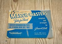 March Masters Folio For Band James A. Scott First B Clarinet Sheet Music Vintage