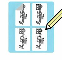 Clarinet Fingering Stickers Set (500 Pack) Super handy for students and teachers