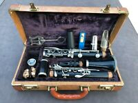 Vintage Buffet Crampon Evette Wooden Clarinet & Case Germany #205753