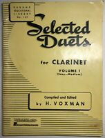 Selected Duets for Clarinet, Volume 1 - Easy to Medium Music Book Sheet Music B2