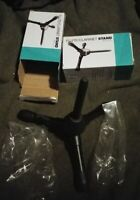 ONE NEW STAGG FLUTE CLARINET WIS-A45 IN BOX METAL STAND POWDERCOAT BLACK