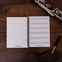 A5 Music Notebook 6 Manuscript Staves and Lined Note Paper Staff Gift Piano 🎹