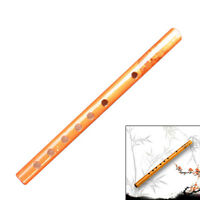 Traditional 6 Hole Bamboo Flute Clarinet Musical Instrument Flute Wood Color QK