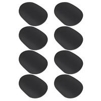 8 Pcs Rubber Mouthpiece Patches Pad For Soprano/Alto Saxophone Clarinet 0.5mm