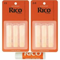 Rico Bb Clarinet Student Starter Pack 3 x 1.5 reeds 3 x 2.0 Reeds + Cork Grease