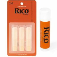 Rico D'addario Woodwinds  Bb Clarinet 3 x Reeds, Strength 2  with Cork Grease